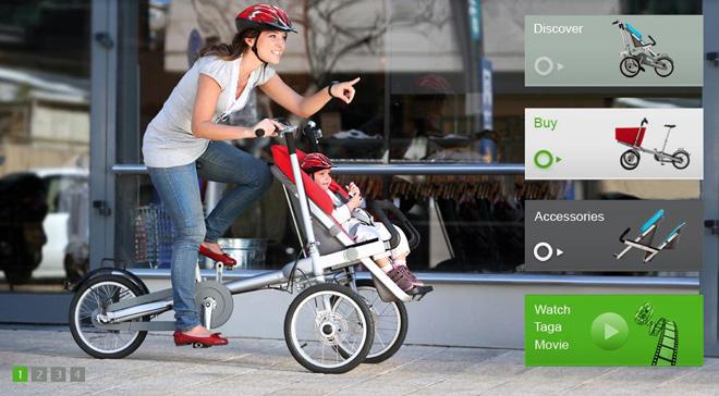 carrito bici mama niño bebé pedalear ciudad