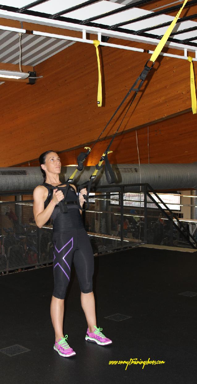 trx isabel del barrio on my training shoes