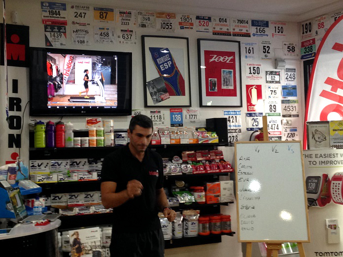 taller técnica carrera triatlón acosta entrenar
