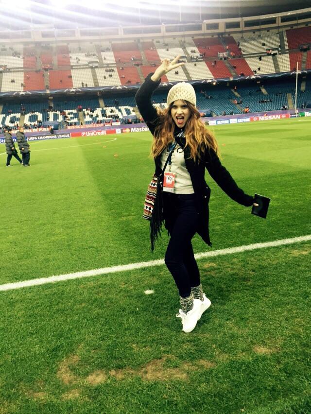 partido mairen muñoz calderon atletico madrid heineken futbol actriz modelo unagi magazine