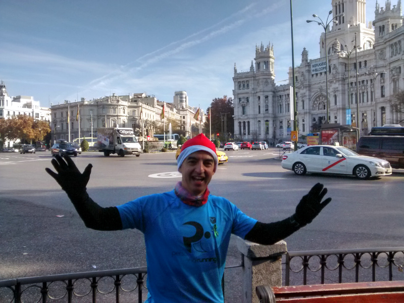navidad personal running run christmas madrid city