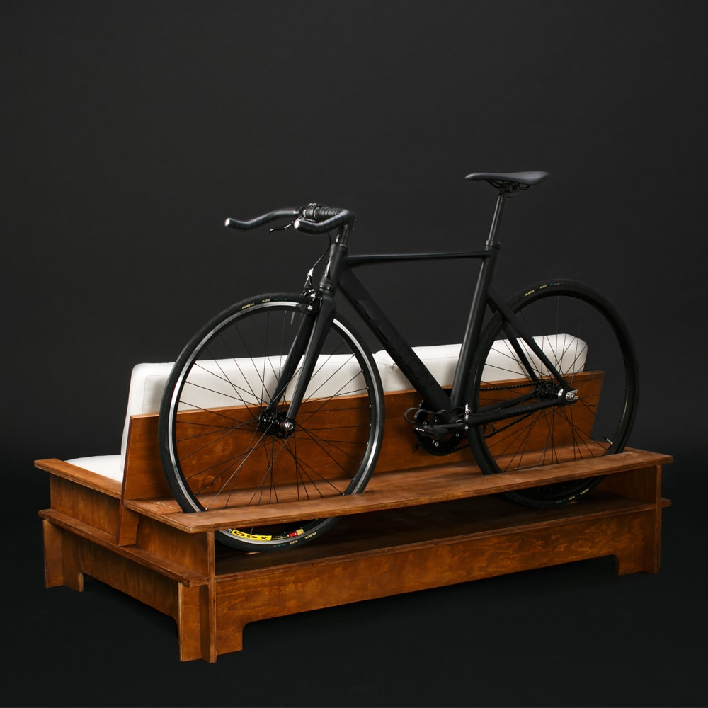 ciclistas urbanos bicicleta muebles hipster moderno cool single speed