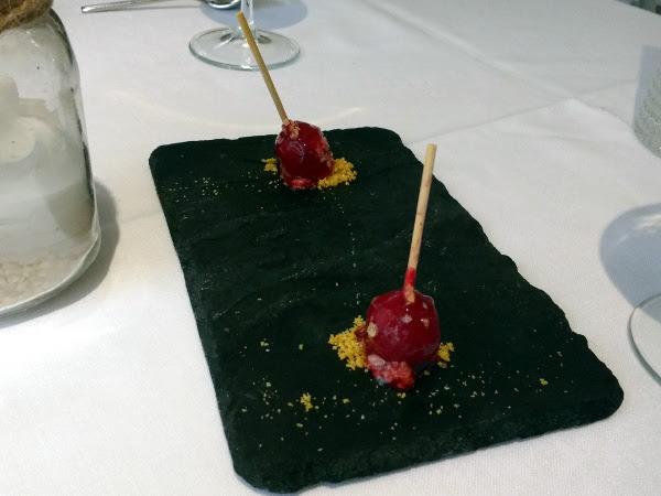 restaurante lelisé chupa chups queso frambuesa