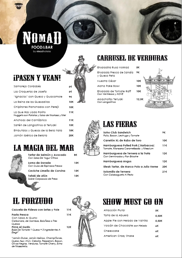 nomad food bar vincci soho restaurante