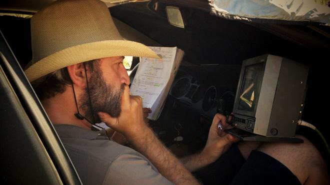 Samuel Gutierrez durante el rodaje