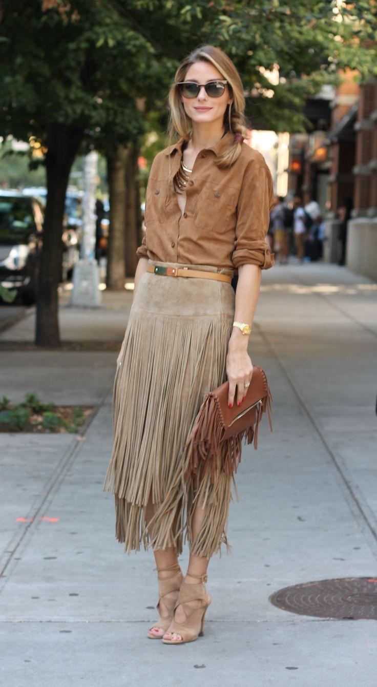 Olivia Palermo flecos fashion moda