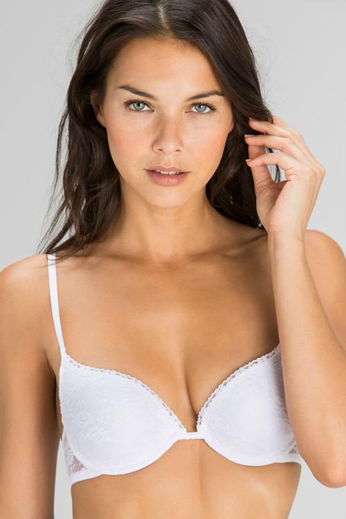 women secret crisp white otoño invierno 2015 lenceria sujetador morena moda intima blanco