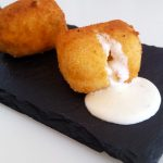 Croquetas líquidas de queso azul