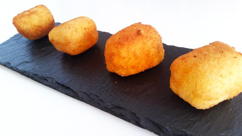 receta croquetas liquidas gelatina queso azul gourmet gastronomia cocina