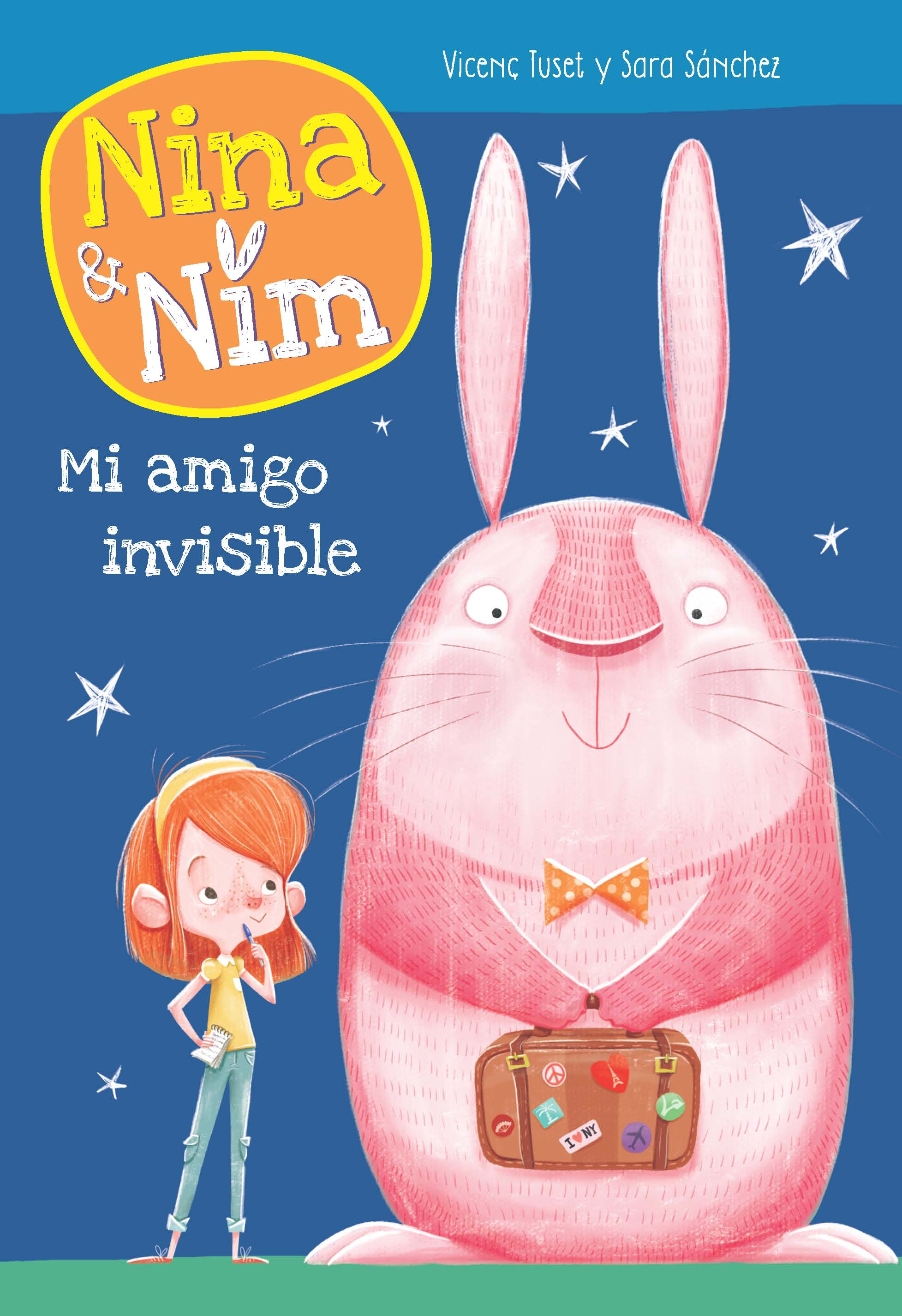 nina nim amigo invisible conejo rosa editorial beascoa megustaleer