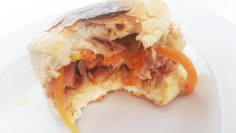 receta bollo vietnamita banh mi bacon