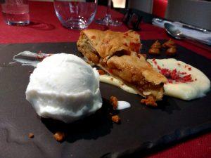 abrazo de vergara restaurante carta postre apple pie cake tarta