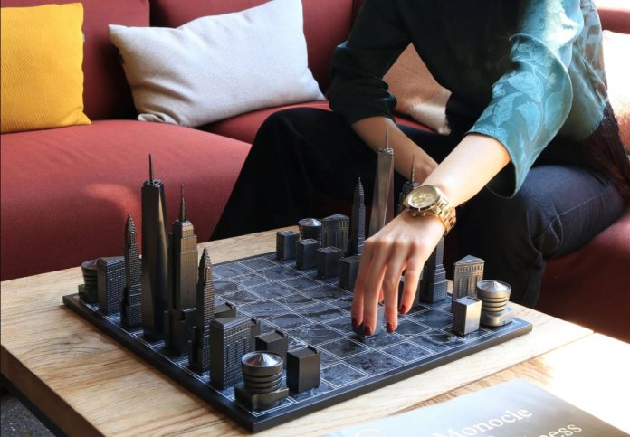 skyline chess arquitectura juego ajedrez