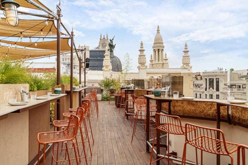 le tavernier madrid rooftop by melia